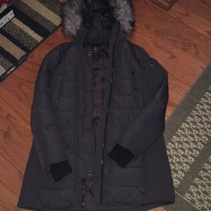 Michael Kors Grey Parka Jacket